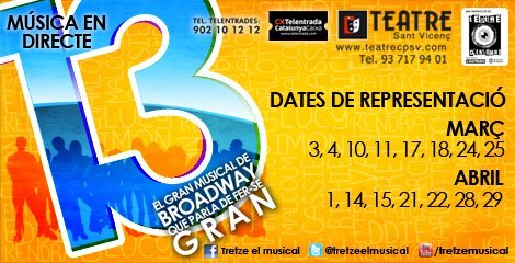 Tretze el musical en Sabadell