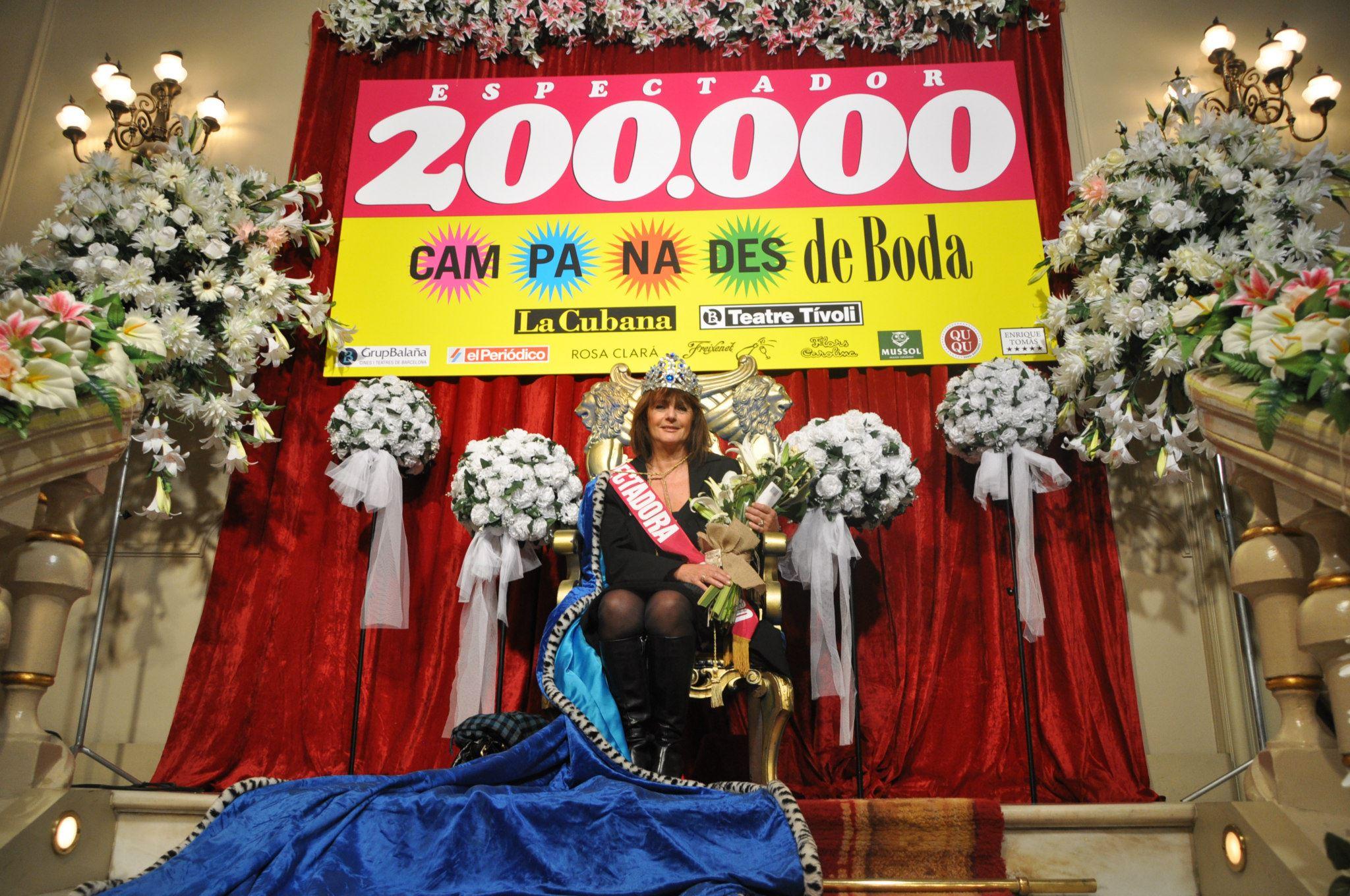 La Cubana llega a los 200.000 espectadores con Campanades de Boda y lo celebra por todo lo alto