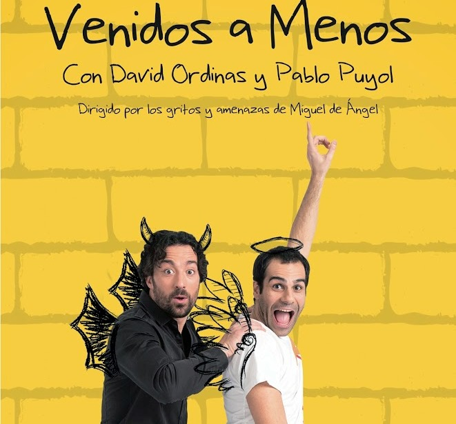 """""""Venidos a Menos"""", el espectáculo de David Ordinas y Pablo Puyol ¡Por fin en Barcelona!"""