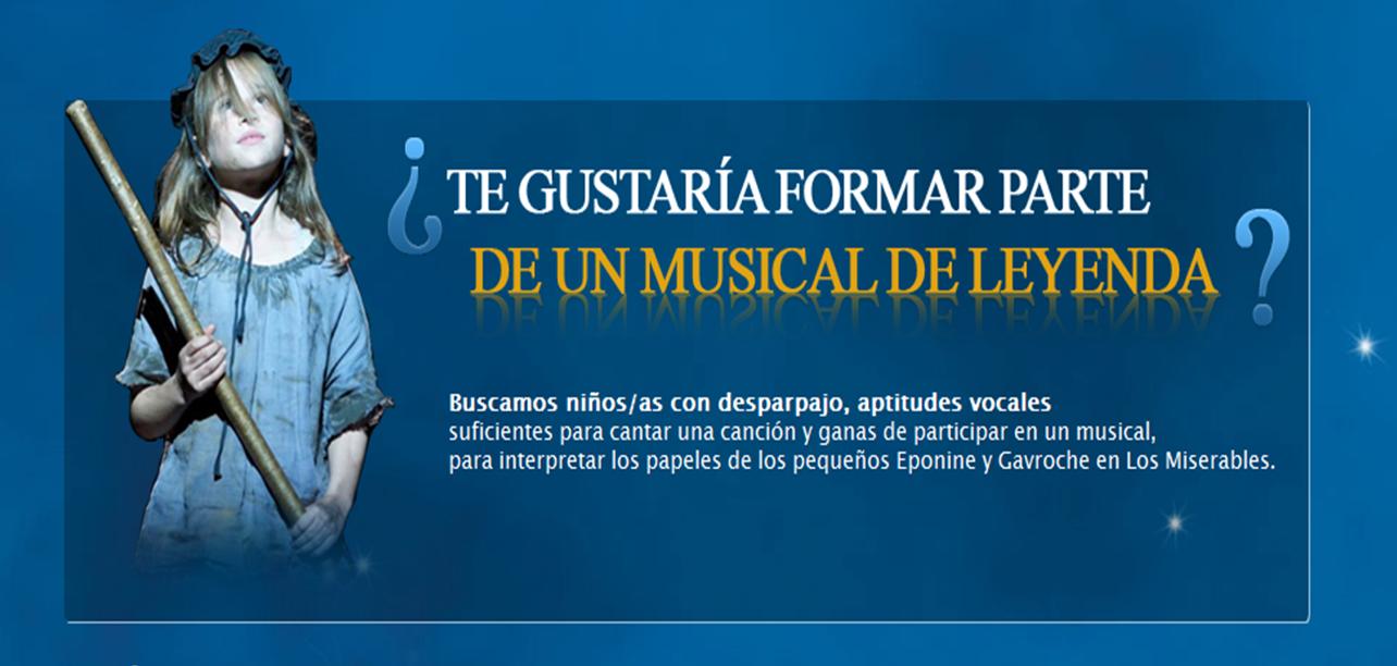 Audiciones infantiles para el musical Los Miserables en Barcelona