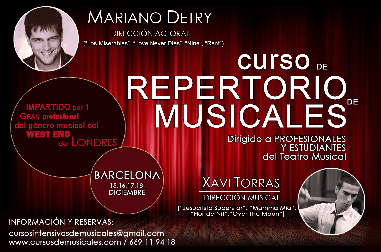 Llega a Barcelona el Curso Intensivo de Musicales