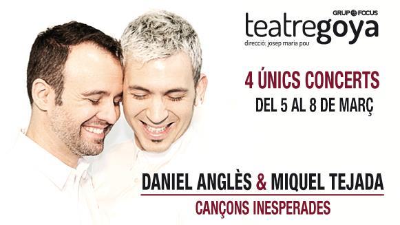 """""""Cançons Inesperades"""" de Daniel Anglès y Miquel Tejada vuelve, ahora al Teatre Goya"""
