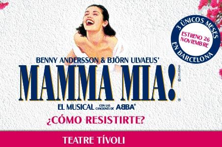 Mamma Mia! se estrenará en Barcelona en el Teatre Tívoli en noviembre